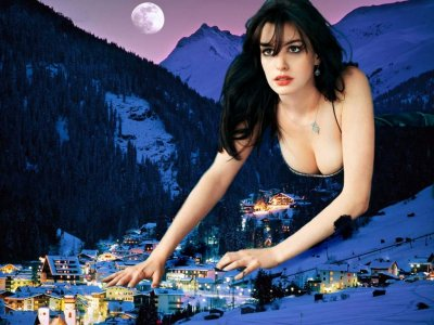 big art of Anne Hathaway(Tirol Austria)