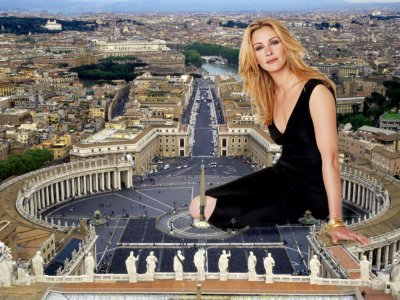 big art of Julia Roberts(Vatican City)