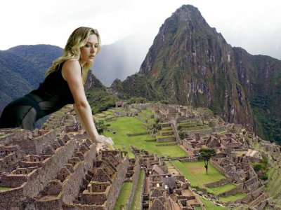 big art of Kate Winslet(Machu Picchu Peru)