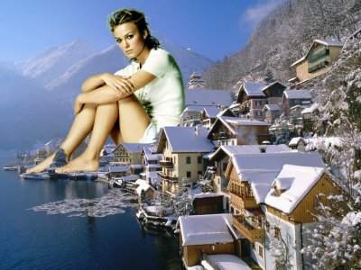 big art of Keira Knightley(Hallstatt Austria)