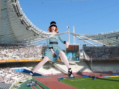 big art of Nicole Kidman(Olympic Stadium Athens)