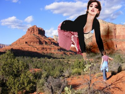 big art of Penelope Cruz(Sedona Red Rocks)